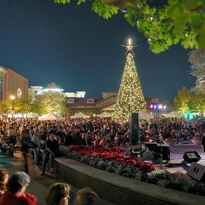 """Hill Country Galleria Christmas Tree Lighting 2020 Wednesday Woodlands Community Event: """"Luxury in Lights"""" Tree"""