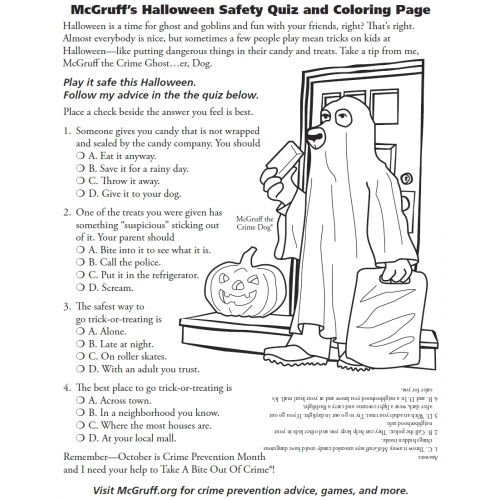 halloween safety tips for neighborhoods around austin - Halloween Quiz For Kids